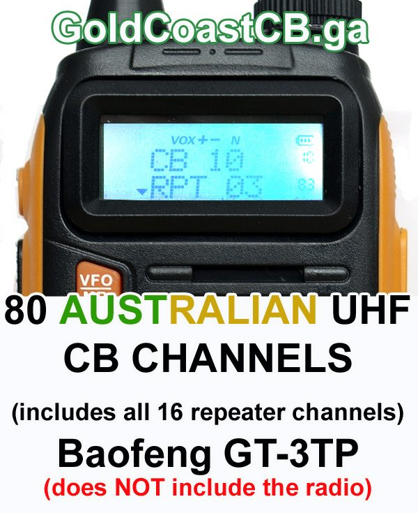 80 CB channels for the Baofeng GT-3TP