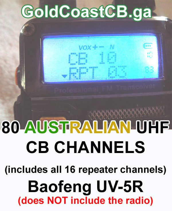 80 CB channels for the Baofeng UV-5R