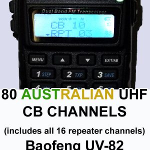 80 CB channels for the Baofeng UV-82