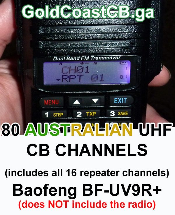 80 CB channels for the Baofeng BF-UV9R+