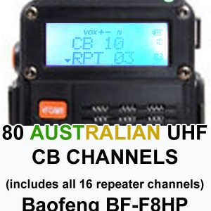 80 CB channels for the Baofeng BF-F8HP